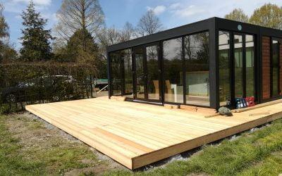 Kiosk-Terrasse im Naturbad fertiggestellt